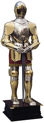 Armatura Medievale - Acciaio rifiniture Oro