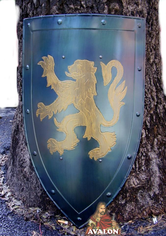 Scudo Medievale - Leone Rapante