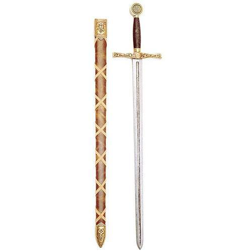 Tagliacarte a forma di spada Excalibur con fodero