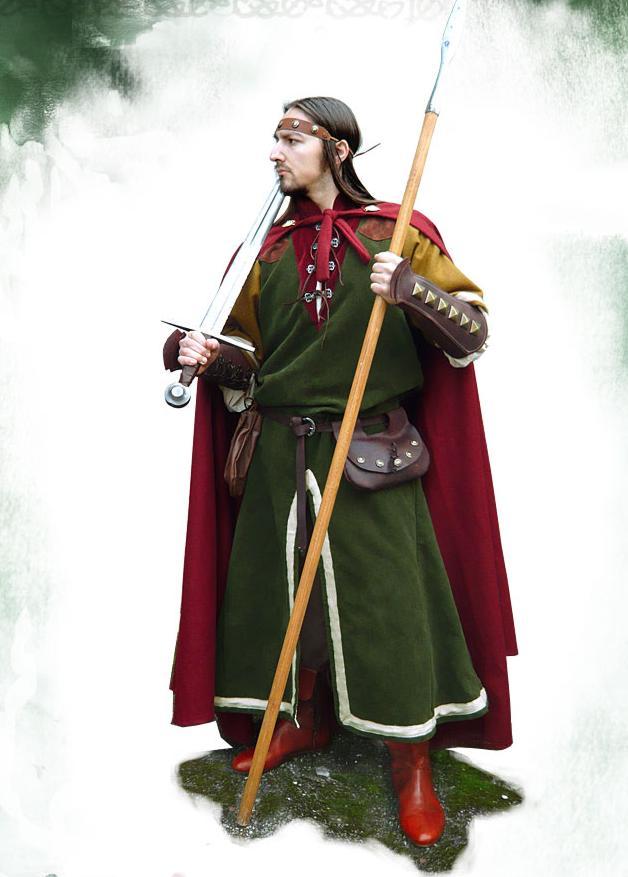 Da Uomo Medievale Cavaliere crociato guerriero King Arthur Costume Vestito