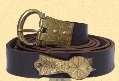 scegli l'ultima marchio popolare ampia scelta di colori e disegni Cintura medievale in cuoio
